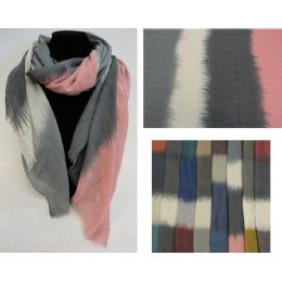 48 Units of Fashion Scarf [Color Fade] - Womens Fashion Scarves