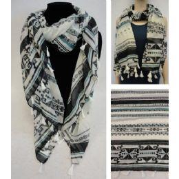 36 Units of Fashion Scarf [aztec Design] - Winter Scarves