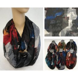 36 Units of ExtrA-Wide Light Weight Infinity Scarf [geometric Fade] - Winter Scarves