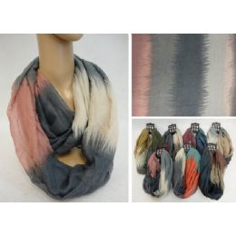 12 Units of Extra-Wide Light Weight Infinity Scarf [Color Fade] - Womens Fashion Scarves