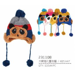 72 Units of Assorted Color Children's Hat - Junior / Kids Winter Hats
