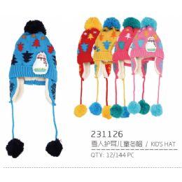 72 Units of Assorted Color Children's Hat - Junior / Kids Winter Hats