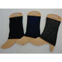 48 Units of Boot Cuffs [mini Colored Rhinestones] - Arm & Leg Warmers