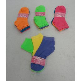 60 Units of Girl's Anklet Socks 6-8[solid Colors] - Girls Ankle Sock