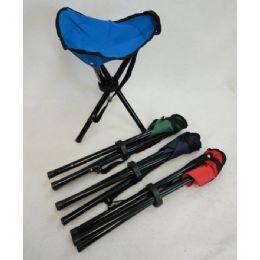 """24 Units of 16"""" 3-Legged Camping Stool - Camping Sleeping Bags"""