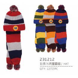 48 Units of Children Warm Winter Set With Plush Hat - Junior / Kids Winter Hats