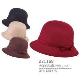 36 Units of Ladies Assorted Color Hat - Bucket Hats