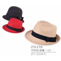 36 Units of Ladies Assorted Color Hat - Bucket Hats