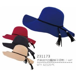 36 Units of Ladies Assorted Color Hat - Sun Hats