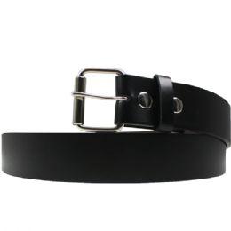 36 Units of Size Small Black Plain Belts - Mens Belts