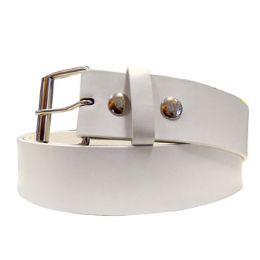 48 Units of Medium White Plain Belt - Mens Belts