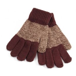 72 Units of Kids Striped Mittens - Knitted Stretch Gloves