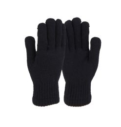 72 Units of Ladies Winter Gloves With Fur - Knitted Stretch Gloves