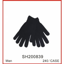 96 Units of Men's Winter Gloves - Knitted Stretch Gloves