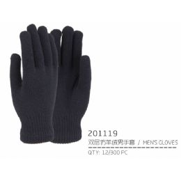 72 Units of Men's Winter Gloves Heavy And Warm - Knitted Stretch Gloves