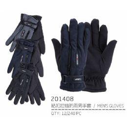 72 Units of Men's Warm Winter Ski Glove With Zipper Pocket - Ski Gloves