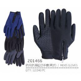 72 Units of Men's Asst Color Gloves - Knitted Stretch Gloves