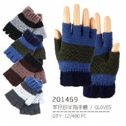 96 Units of Men's Asst Color Gloves - Knitted Stretch Gloves