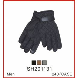 48 Units of Men's Winter Gloves - Knitted Stretch Gloves