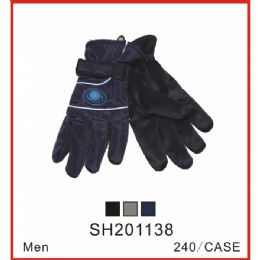 48 Units of Men's Asst Color Winter Gloves - Knitted Stretch Gloves