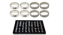 144 Units of Ring 007 Ab Stainless Steel - Rings