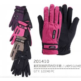 48 Units of Lady's Winter Glove - Knitted Stretch Gloves