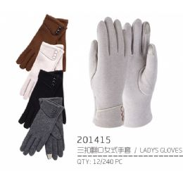 48 Units of Lady's Winter Touch Glove - Conductive Texting Gloves
