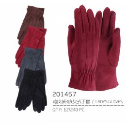 60 Units of Ladies Suede - Winter Gloves
