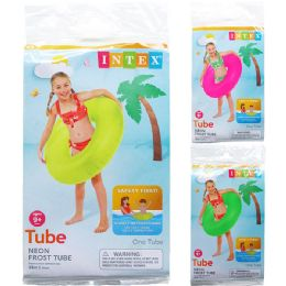 """24 Units of 36"""" Neon Frost Tubes In Pegable Poly Bag, 3 Assrt Clrs - Inflatables"""