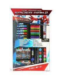 12 Units of 67 Piece Jumbo Marvel's Spiderman Art Sets - School Supply Kits