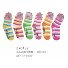 144 Units of Assorted Color Fuzzy Socks - Womens Fuzzy Socks