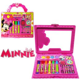24 Units of 22 Piece Disney's Minnie's Bow-Tique Travel Art Cases - Craft Kits