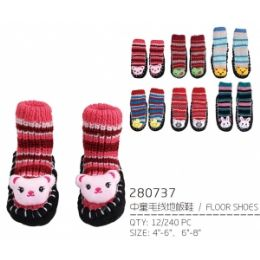 144 Units of Kids' Assorted Color Slippers - Girls Slippers