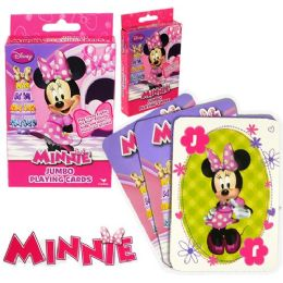 48 Units of Disney's Miniie's BoW-Tique Jumbo Playing Cards - Card Games