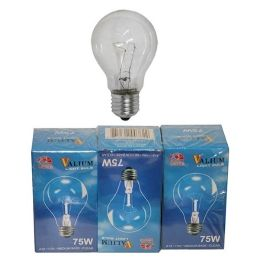 80 Units of 3PC CLEAR LIGHT BULB 75W - Lightbulbs