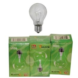 80 Units of 3pc Clear Light Bulb 60w - Lightbulbs
