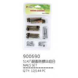 144 Units of EXPANSION SCREW - Drills and Bits