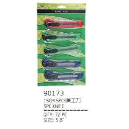 72 Units of 5 Piece Knifes - Box Cutters and Blades