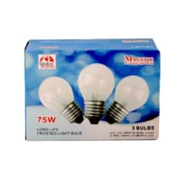 80 Units of 3PC CLEAR LIGHT BULBS 75W - Lightbulbs