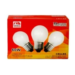 80 Units of 3pc Clear Light Bulbs 60w - Lightbulbs