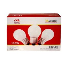40 Units of 3 Pc Frosted Light Bulb 100w - Lightbulbs
