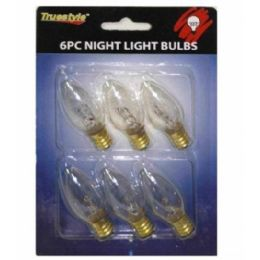 96 Units of 6PC NIGHT LIGHT BULB CLEAR 6.5x4.5 IN - Lightbulbs
