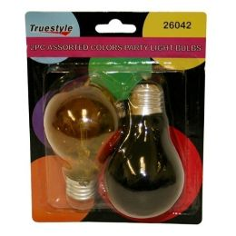 96 Units of 2PC LIGHT BULB ASST COLORS - Lightbulbs