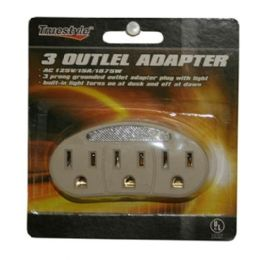 96 Units of 3 OUTLET ADAPTERS - Chargers & Adapters