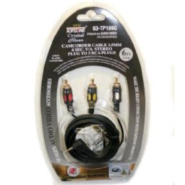 72 Units of 6ft 3.5mm 4c Plug To 3 Rca Plug - Cables and Wires