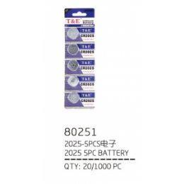 240 Units of 2025 Battery Five Pieces - Batteries