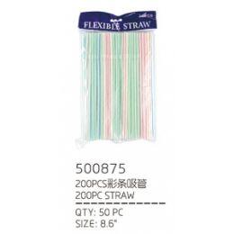 50 Units of 200 PIECE STRAWS - Straws and Stirrers
