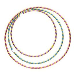 108 Units of HULA HOOP STRIPE GLITTER ASST S.M.L - Summer Toys