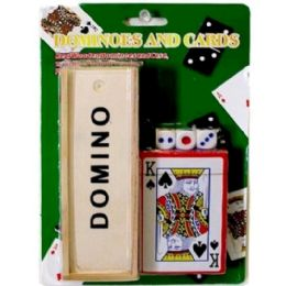 72 Units of DOMINOES CARD DICES SET - Playing Cards, Dice & Poker