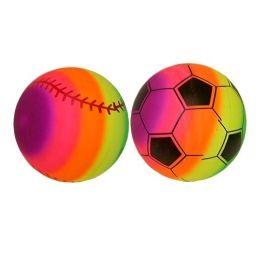 150 Units of 9 Inch Rainbow Pvc Sport Ball - Balls